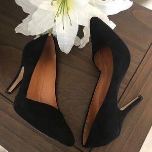 Madewell- Mira Heel in Black Suede- 5.5